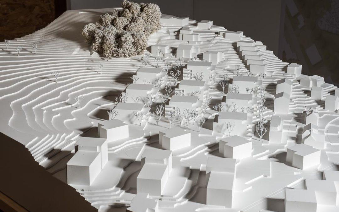 Wettbewerb Vogelwinkel: Galerie mit Architekturmodellen