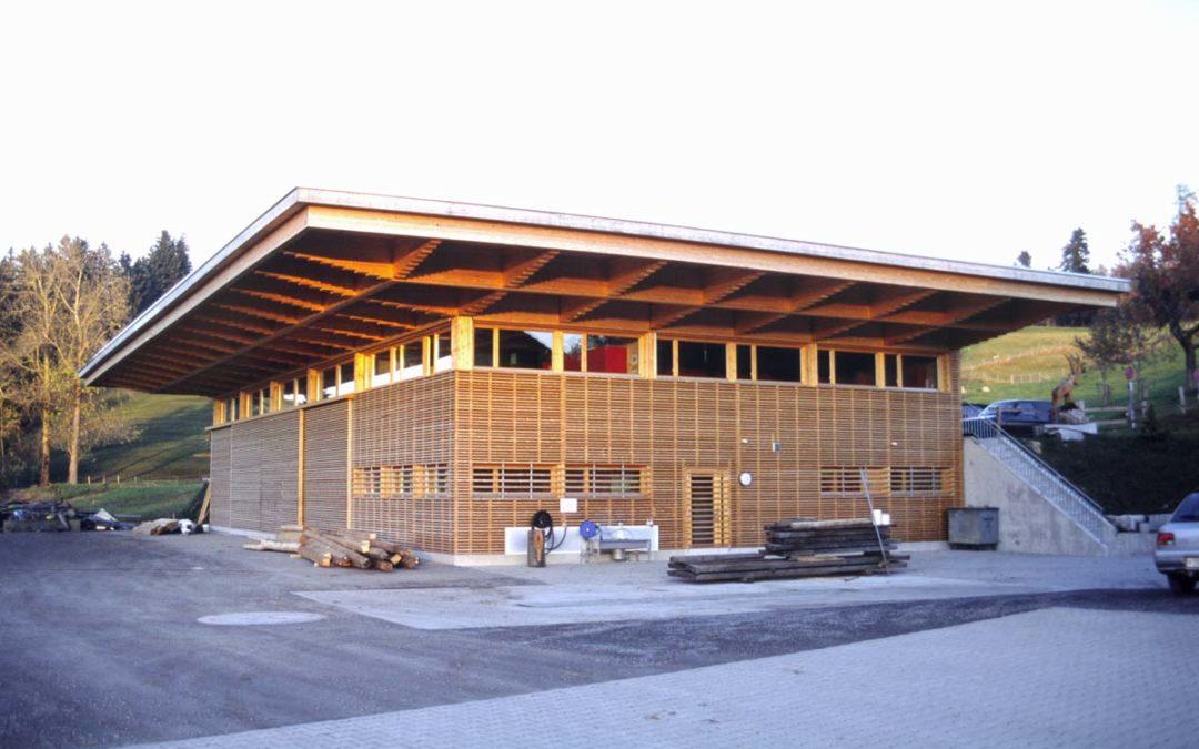 Moderner Holzbau für das Forstmagazin Vordergeissboden